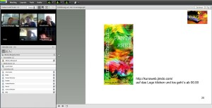 Screenshot Webinar Online Vernissage